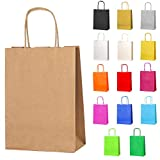 Thepaperbagstore Small Paper Party Bags, Gift and Sweet Bags with Twist Handles - CHOOSE YOUR COLOUR AND QUANTITY