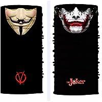 ShopINess Pack Pañuelo bandana multiuso Joker + Vendetta