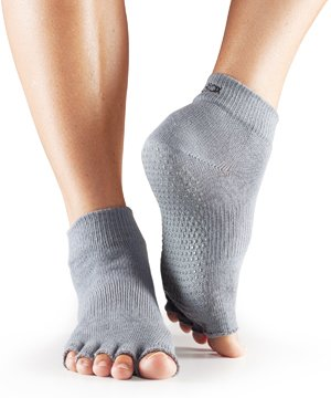 Yoga-Mad Hälfte Zehensocken, damen, grau, xs