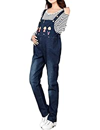 YiZhi Hot Maternity Jumpsuit Loose Rompers Baggy Pants Pregnancy Bib Jeans M8817