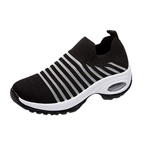 Women's Womens Running Shoes Fashion Flying Weaving Socks Shoes Casual Mesh Slip On Loafers Platform Comfort Student Sneakers