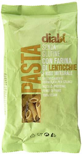 Dialsì Mezze Penne Pasta senza Glutine con Farina di Lenticchie e Riso Integrale - 240 g