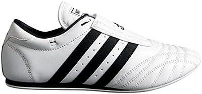 Adidas SM2 Zapatillas de taekwondo, piel, bandas negras
