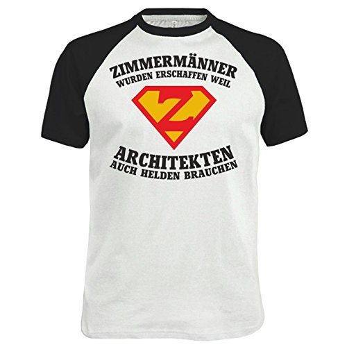 Männer und Herren T-Shirt ZIMMERMÄNNER wurden erschaffen Weiß/Schwarz
