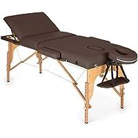 Klarfit MT 500 • Massageliege • Massagetisch • Massagebank • 10-stufige Rückenlehne • Armlehnen • Kopfstütze • verstellbare Fußstützen • Gesichtsloch • 10 cm Polsterung • verschiedene Farben