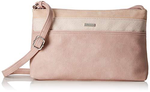 Tamaris Damen Khema Crossbody Bag S Umhängetasche, Pink (Rose Comb.), 6.5x17x27 cm