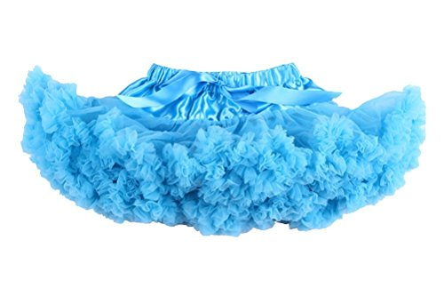 s Einfarbig Petticoat Tanz Tutu Kostüme Rock Blau Large (Blau Rock Kostüm)