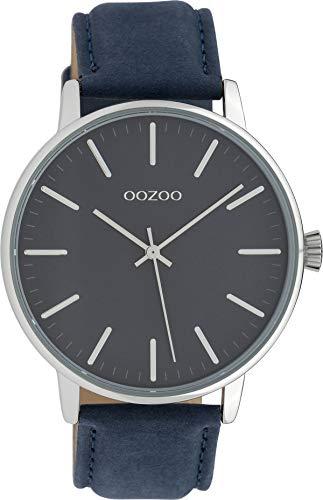 Oozoo Damenuhr mit Lederband 42 MM Blau/Blau C10044