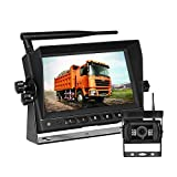 MiCarBa Equipo de cámara y monitor de seguridad inalámbrico MiCarBa de 7 pulgadas, impermeable, visión nocturna, cámara de visión trasera, monitor HD, sistema de asistencia de estacionamiento