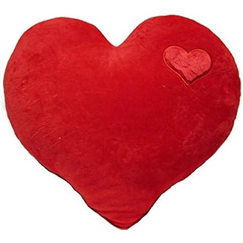 Fluffy dulce forma de corazón cojín silla de coche sofá respaldo almohada