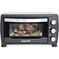 Emperial 19L Mini Oven & Grill Black – 1400W With Baking Tray & Wire Rack