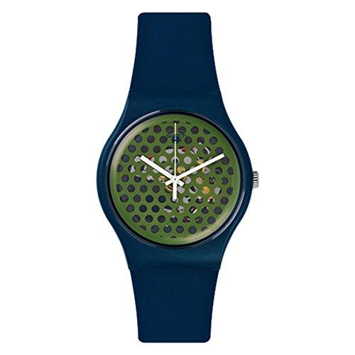Swatch SUON113 - Orologio da polso Uomo, Silicone, colore: Blu