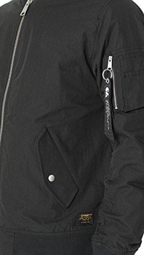 Carhartt Herren Adams Jacket Dollar Green (Medium) Schwarz (Nero)
