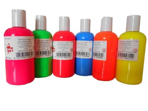 Scola Textilfarbe 6 x 150ml (fluoreszierend)