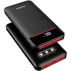 RLERON Batterie Externe 25000mAh Power Bank LCD Display Ultra Haute Capacité 3 Ports USB & 2 Entrées(Type-C & Micro-usb ) Haute Vitesse et Technologie Digi-Power pour iPhone, Android Smartphone etc