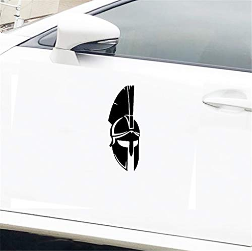 Adesivi X Auto Guerriero romano in acciaio Immagine Caschi spartani Specchio per auto Adesivo per auto Decal Camion Paraurti Coraggio 8x3 pollici per autoadesivo della finestra del computer portat