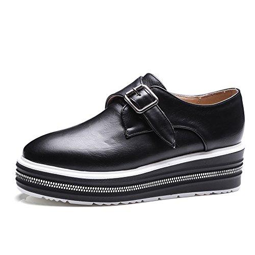 des chaussures à semelle épaisse profond au printemps/La version coréenne de Joker fashion casual shoes/ceinture boucle chaussures femme A