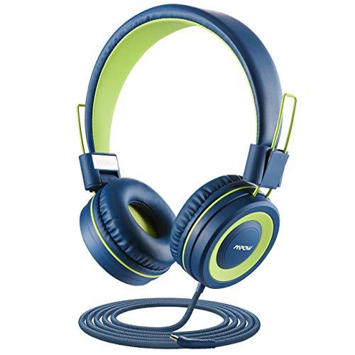 Kopfhörer Kinder, Mpow CH8-Kinderkopfhörer, 91dB-Lautstärkebegrenzung und Gehörschutz, Verwicklungsfreier Nylondraht, faltbar und langlebig, Mikrofon online