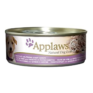 Applaws Dog Food Tuna Fillet with Prawn & Baby Carrot 24 x 156g 3744g by Applaws