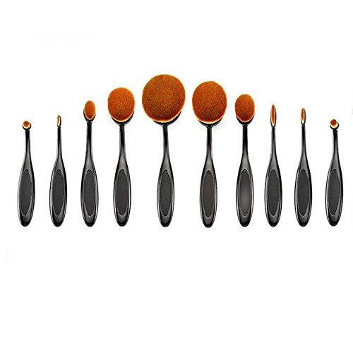 Vococal® 10 Pcs Brosse à Dents En Forme Maquillage Brosse Cosmétiques Teint Poudre Correcteur Maquillage Brush Set