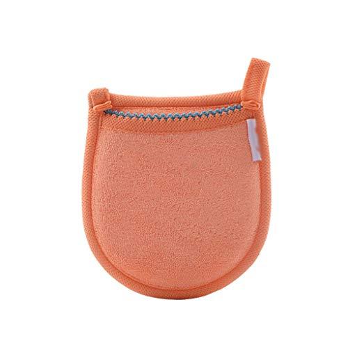 Microfibre réutilisable pour Le Visage Tissu démaquillant démaquillant Gant de Nettoyage Outil beauté Soins du Visage Serviette 5 Couleurs (Color : Orange)