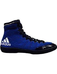 Adidas Adizero Varner Lucha de zapatos, negro real / blanco /, 4 M con nosotros