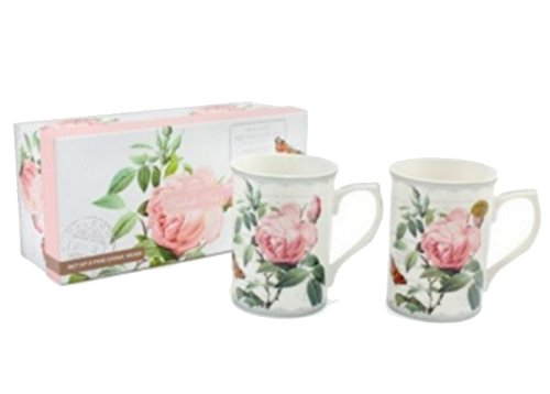 ENSEMBLE 2 MUGS MOTIF ROSES