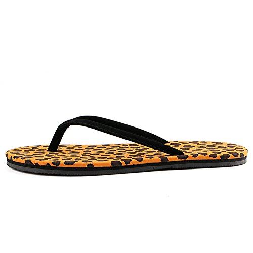 Ladies piatta infradito/Estate Pantofole Leopard slittamento/Ciabatte da spiaggia per il tempo libero A