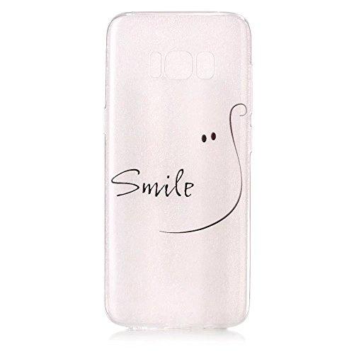 Samsung S8 Plus handyhüllen TXLING Crystal Hülle Klare Ultradünne Silikon Gel Schutzhülle Durchsichtig Transparent TPU Silikon Schutz Handy Hülle Tasche Etui Bumper Case für Samsung Galaxy S8 Plus - SLächeln