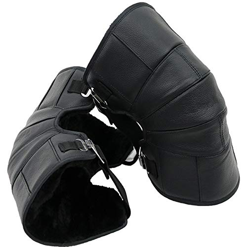 HBRT Windproof Leg Gaiters Snow Legs Cover Leder Warm Knieschoner 3D Ergonomics Kinematics 45 Degree Curved Design -