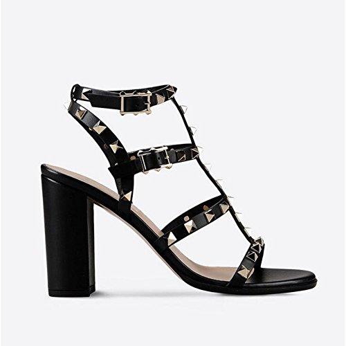 SHINIK 2018 Femmes Chaussures D'été Nouveau Avec Rivet Sandales Talons hauts Dames Stiletto Talons Hauts
