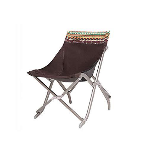 Unbekannt Klappstuhl Outdoor Tragbare Camping Picknick Angeln Stuhl Aluminiumrahmen Strand Sketch Stuhl