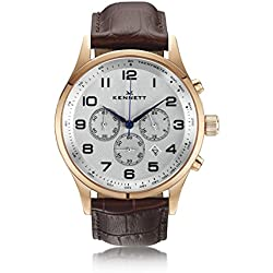 Mens Kennett Savro Modern Chronograph Watch SVRGWHDRBRMD