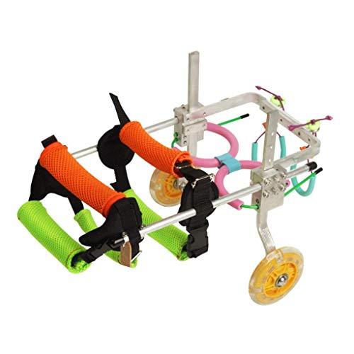 Silla de ruedas para perros, coche para perros, Adecuado para mascotas Pata trasera Práctica Rehabilitación Miembro Discapacitado Discapacitado Lesionado Ayuda para caminar , Perros pequeños grandes ,