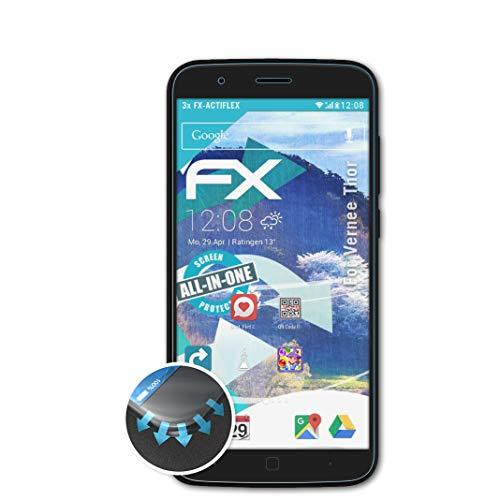atFolix Schutzfolie passend für Vernee Thor Folie, ultraklare & Flexible FX Bildschirmschutzfolie (3X)