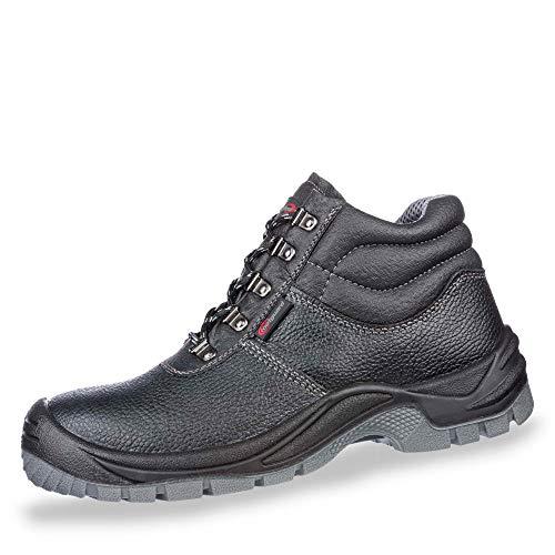 Gebrüder götz Footguard Solid 63.190.0 S3 SRC Herren Sicherheitsschuhe aus Leder Stahlkappe, Groesse 44, schwarz
