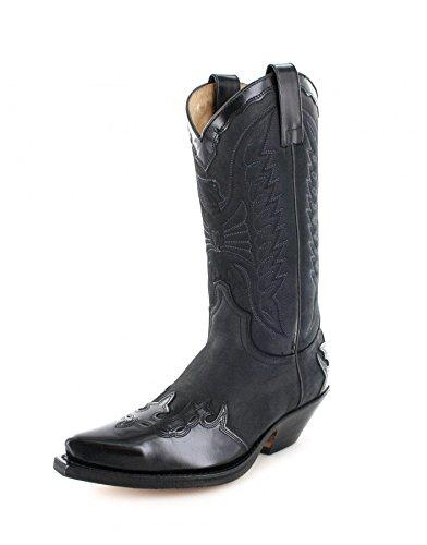 Sendra boots bottes 2560 westernstiefel cowboystiefel (différents coloris) Noir - Noir