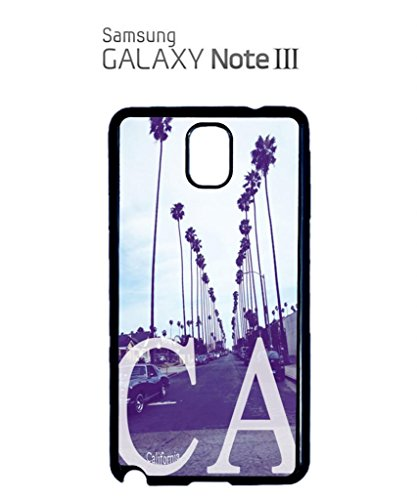 California CA Palm Springs Mobile Cell Phone Case Samsung Note 3 Black Blanc