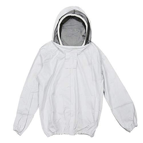 Zay Unisex Weißes Gewebe-Mesh-Imkerjacke Imkerjacke mit selbsttragendem Schleier-Imker-Kapuzenjacke Bienenjacke -