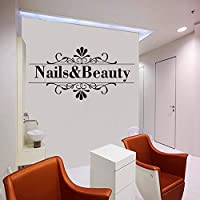 42 * 81cm Nail Beauty Vinyl Wall Sticker Nail Stylist Salon Decal Bedroom Manicure Shop Remove Home Decoration Art Poster