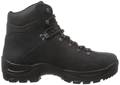 alpina Herren 680203 Trekking-& Wanderstiefel Schwarz (Black)