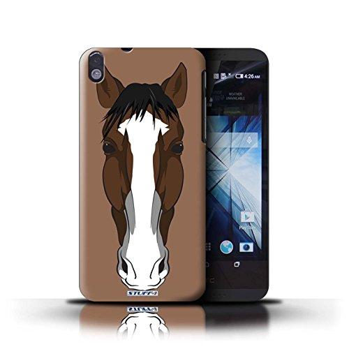 Kobalt® Imprimé Etui / Coque pour HTC Desire 816 / Chat blanc conception / Série Museaux Cheval