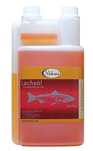 Makana Lachsöl für Tiere, 100% rein, 1000 ml Dosierflasche (1 x 1 l)