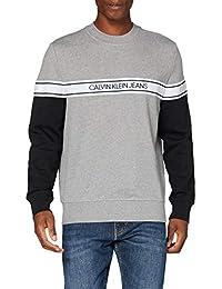 Calvin Klein Jeans Logo Tape Crew Neck Sweater Homme