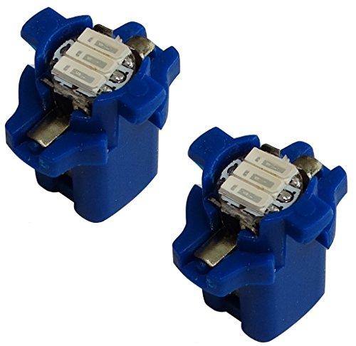 Aerzetix 10x ampoules B8.3D 12V 1W 3LED SMD lumi/ère bleue pour tableau de bord C19698