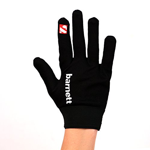 Barnett FLGL-02 American Football Handschuhe Running, RE,DB,RB, Schwarz, (XL)