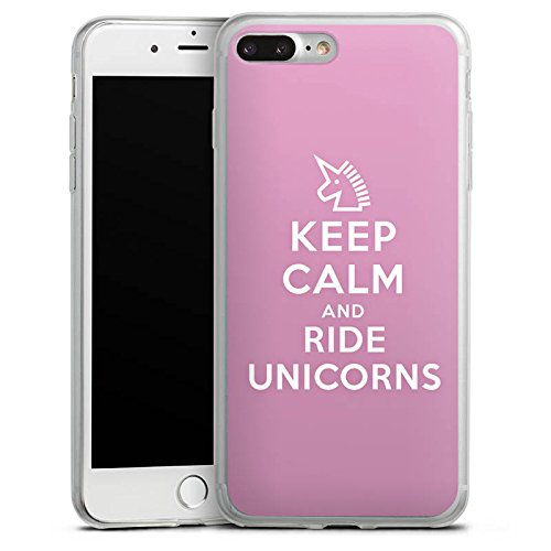 Apple iPhone 8 Plus Slim Case Silikon Hülle Schutzhülle Einhorn Unicorn Sprüche Geschenk Silikon Slim Case transparent