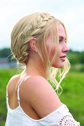 Stranded geflochtenes Haarband Haarteil in Box verschiedene Farben