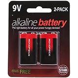 Monoprice Monoprice Alkaline 9V Battery 2-Pack
