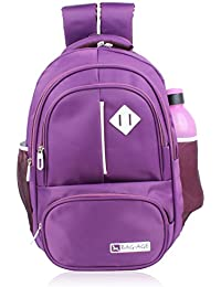 Bag-Age Collage Backpack, School Bag With Rain Cover (L) (Queen 11)